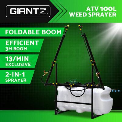 GIANTZ ATV 100L Weed Sprayer Tank Foldable 3M Boom Self Priming Pump Gauge Hose