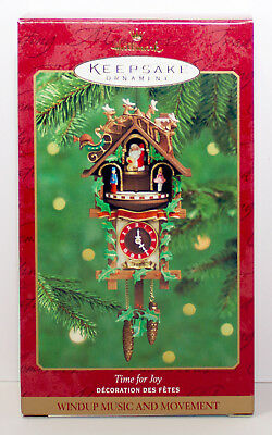 2000 TIME FOR JOY Cuckoo Clock NEW Hallmark Ornament German Traditional WINDUP