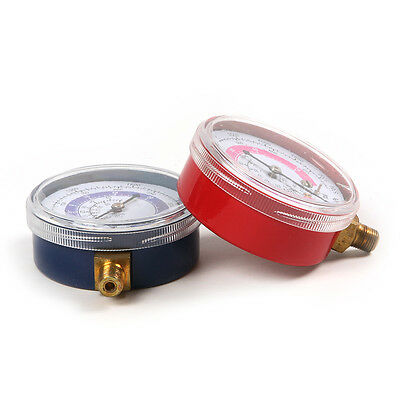 1 Pair R134A R22 R410A Air Conditioner Refrigerant Low and High Pressure Gauge