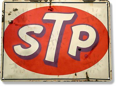 STP Motor Oil Gas Vintage Retro Tin Metal Sign