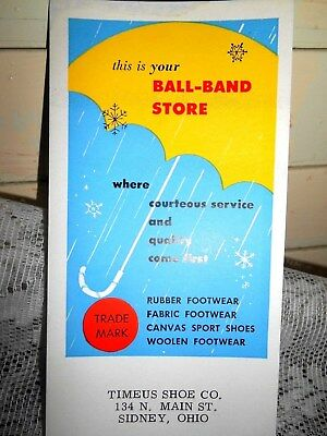6-Vintage Ball -Band Store Advertising Unused Ink Blotter- Timus Co.,Sidney,Ohio