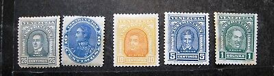 Selection Of Early Venezuala Stamps. Mint Hinged.  Lot#r3
