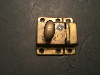VTG Old Antique Small SHABBY Metal HOOSIER Cabinet Cupboard Turn Knob Latch --