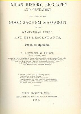 1878 Indian History and Genealogy