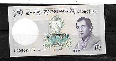 BHUTAN #29b 2013 UNC 10 NGULTRUM OLD BANKNOTE PAPER MONEY CURRENCY BILL NOTE