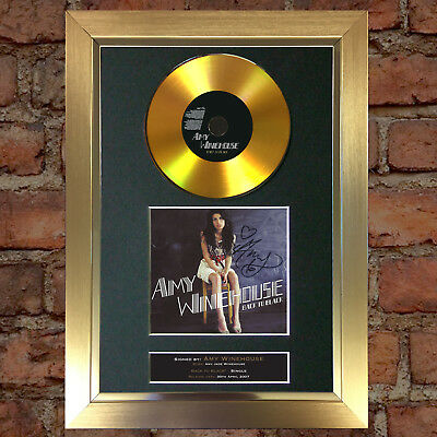 GOLD DISC AMY WINEHOUSE Back to Black Signed Autograph Mounted Repro A4 #152