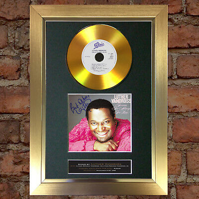 GOLD DISC LUTHER VANDROSS Forever for Always Signed Autograph Mounted Repro #154