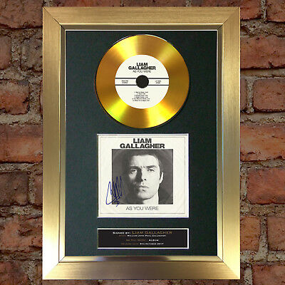 GOLD DISC LIAM GALLAGHER As You Were Cd Signed Autograph Mounted Repro A4 #156
