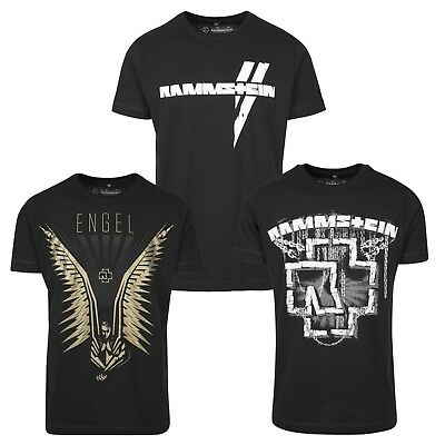 Merchcode Rammstein Herren T-Shirt Metal Band Shirt Engel Hemd Ketten Logo Fan
