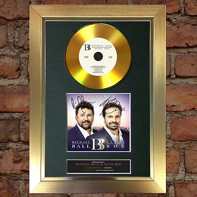 GOLD DISC MICHAEL BALL & ALPHIE BOE Album Signed Autograph Mounted Repro A4 #159