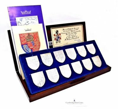 The Royal Arms 12 Solid Silver Sterling Ingots Box COA