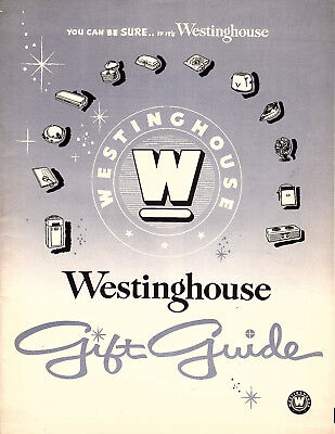 Westinghouse Electric Vintage 1950's Gift Guide Radios TV's Kitchen Appliances