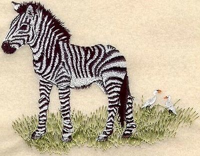 Embroidered Long-Sleeved T-Shirt - Baby Zebra M1304