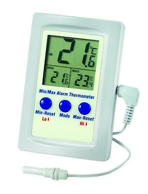 Digital Thermistor alarm max min and in - out LCD thermometer