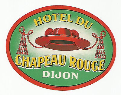HOTEL CHATEAU ROUGE luggage label (DIJON)