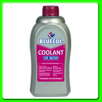 Bluecol Extended Life Anti-freeze & Coolant OE 30 / 34 1 litre [BEL001]  RED