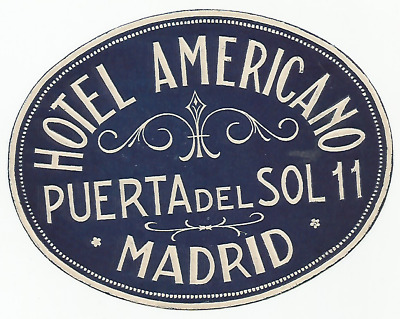 HOTEL AMERICANO luggage DECO label (MADRID)