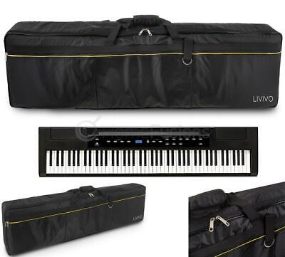 Livivo 88 Key Keyboard Carry Gig Bag Padded Case Cover W Pockets Electric Piano