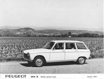 1968 Peugeot 204 B Luxury Wagon ORIGINAL Factory Photo oua1565