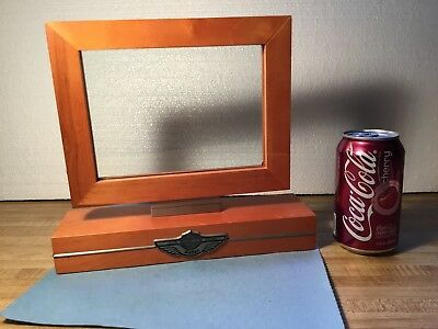 """Harley-Davidson 100th Anniversary Picture Frame 2003! Holds 5"""" x 7"""" Photo Rotate"""