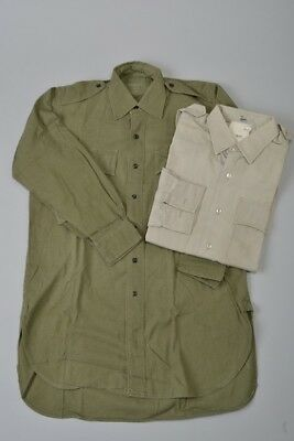 Royal Marines Commando Issue Stone Shirt & 1966 Dated Aertex Jungle Shirt. EAN