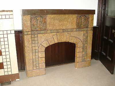 Cast stone  Fireplace Mantle Peacocks 1940's