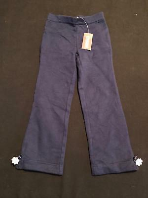 NWT Gymboree Girls Daisy Days Navy Flower Cuff Active Pants Sweat Pants Size 5T