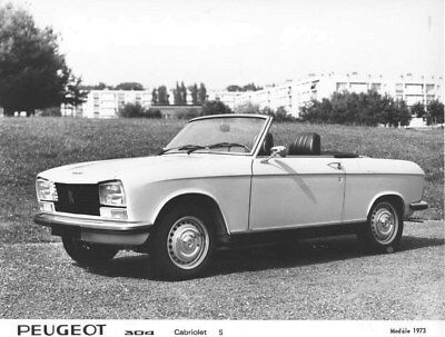 1973 Peugeot 304 Convertible S ORIGINAL Factory Photo oua1657