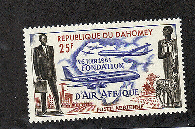 French Benin / Dahomey 1962 Air Afrique airmail stamp sc# c17 M-hinged