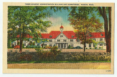 Tabor Academy Admin Building and Dormitories Marion Mass Postcard Vintage MA