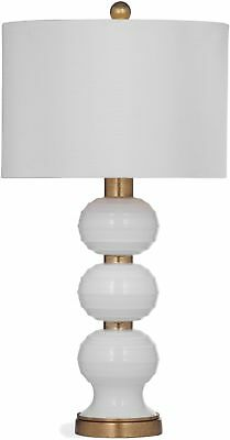 Willa 28-inch White And Gold Glass Table Lamp