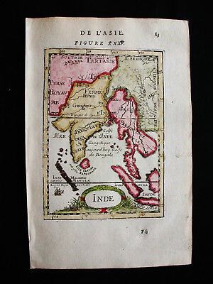1683 MALLET - rare map of ASIA, EAST INDIES, CAMBODIA, THAILAND, INDIA, MALAYSIA