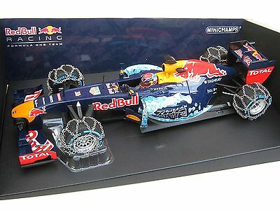 Red Bull Rb7 Max Verstappen Snow Demonstration Run Schneeketten 2016 1/18 Ovp