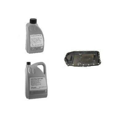 Automatic Transmission Filter ZF Kit & Oil Pan with 6-Liters Trans Fluid NEW
