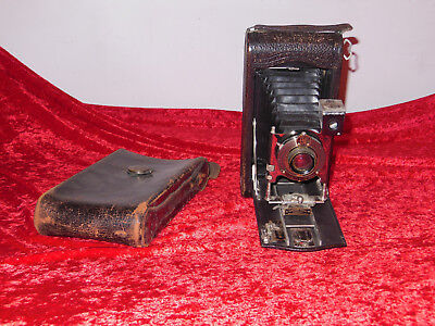 Antique Vintage Eastman Kodak No. 3-A Model C Folding Pocket Camera Pat'd 1910