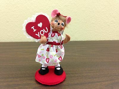 Annalee Valentine Doll / I Love You Girl Mouse / 5 in / NWT / B