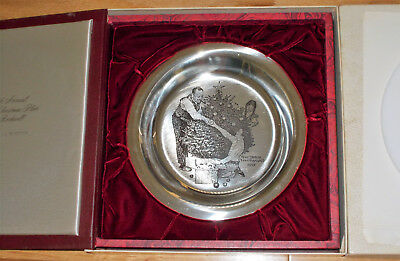 Norman Rockwell 4Th Annual Christmas Plate Sterling Siler 1973
