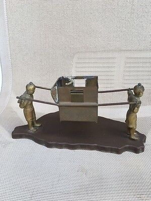 Chinese Antique Vintage  Brass 2 Person Shoulder Human Carriage  Litter Jiao