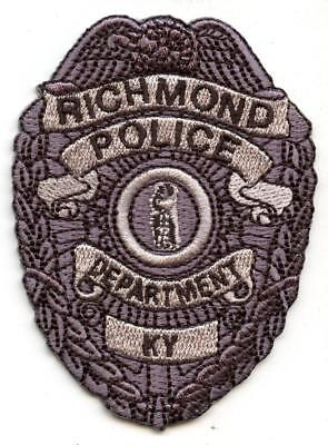 """Richmond Kentucky 3"""" Patch Police Department Law Enforcement Officer LEO Silver"""