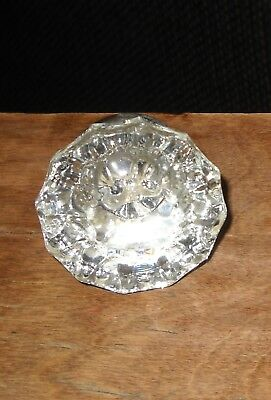 Antique Vintage Crystal Brass Handle Door Knob
