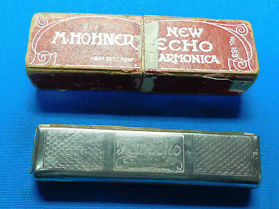 Vintage M. Hohner New Echo No. 153 Harmonica Made In Germany