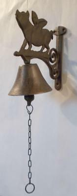 Iron Hanging Flying Pig Bell Pigs Wall Decor Bells Home Decor Unique Gifts