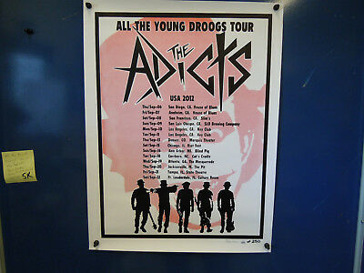 (5K) All the Young Droogs Tour Addicts Music Poster Autograph Dee Limited 68/250