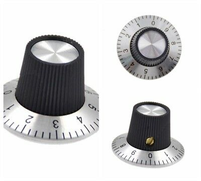 10Pc Metal Knob Scale Potentiometer Shaft Rotary with Dial for 6mm Cap 0-9 Scale