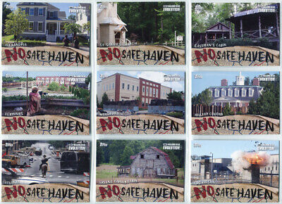 Walking Dead Evolution No Safe Haven Complete 9 Card Chase Set