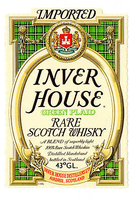 Vintage Inver House Distillers, Airdrie, Scotland Rare Scotch Whiskey Label