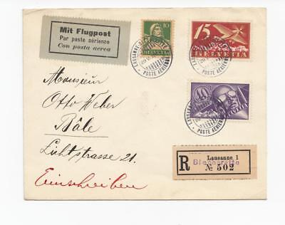 Switzerland:  group of  five early (1924) first and special flight covers