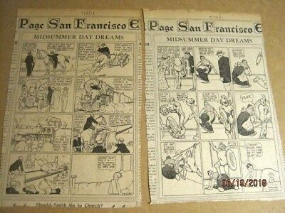 Four 1913 WINDSOR MCCAY DAILY COMIC STRIPS~includes 2 Midsummer Day Dreams