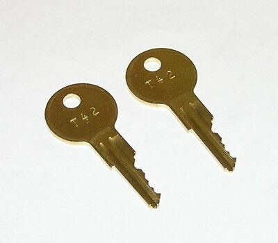 2 - T42 Replacement Keys for Traulsen & True Refrigeration Equipment