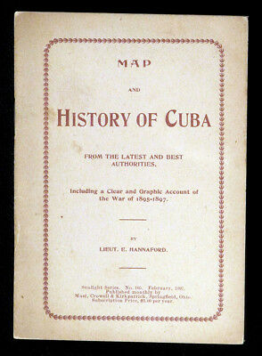 1897 Scarce WAR OF CUBAN INDEPENDENCE Map Spanish-American War Cuba History N/R!